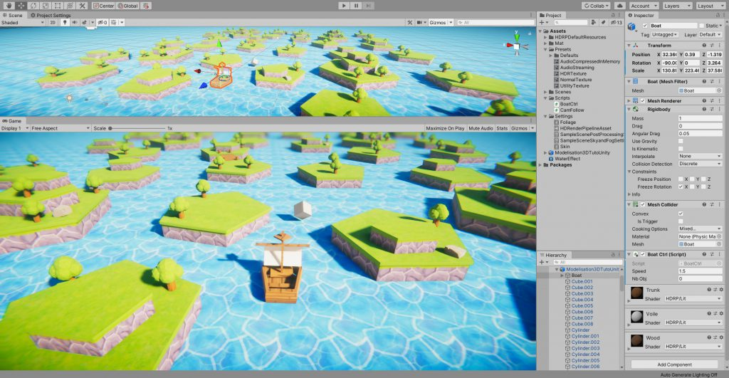 Jeu exploration 3d unity blendedr
