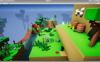 Jeu de plateforme 3D créé avec Unity
