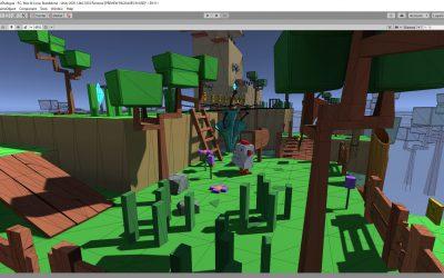 Création d'un jeu 3d sous Unity et visualisation des polygones