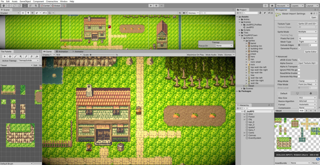 RPG 2D avec Unity 2020 et C#